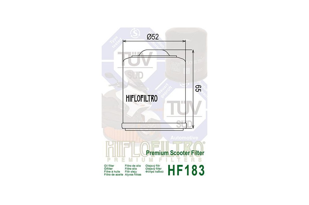 Filtre à Moto Huile HF183