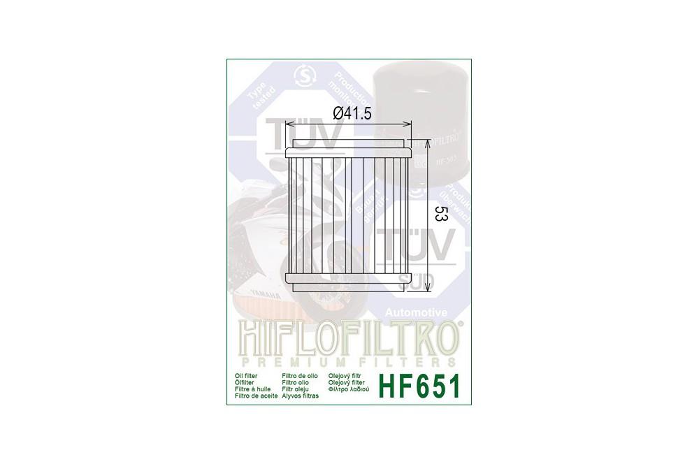 Filtre à Huile Moto HF651
