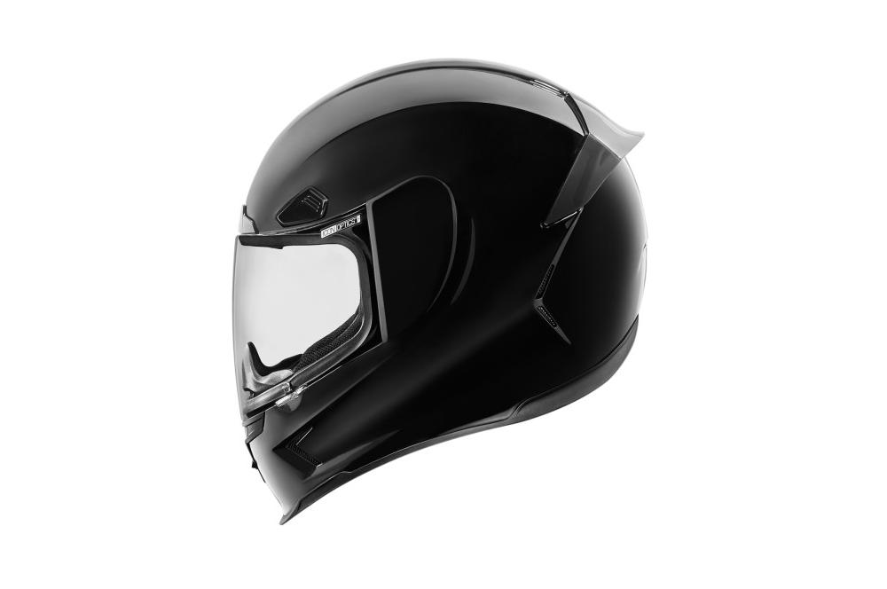casque moto icon airmada gloss noir street moto piece. Black Bedroom Furniture Sets. Home Design Ideas