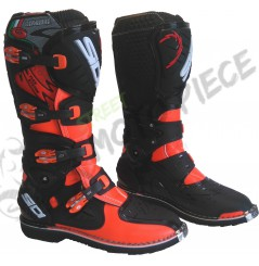 Bottes Moto Cross Sidi Charger Orange Fluo / Noir