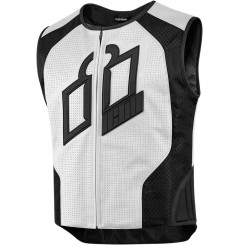 Gilet sans manches cuir Homme ICON Hypersport Prime Blanche