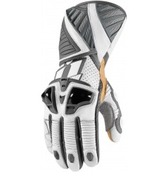 Gants Moto Racing ICON Hypersport Pro Long Blanc