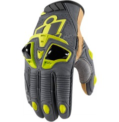Gants Moto Racing ICON Hypersport Pro Court Jaune