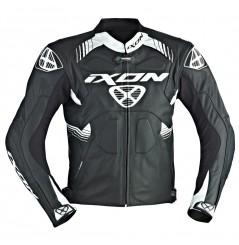 Blouson Cuir Moto Ixon VOLTAGE Noir - Blanc