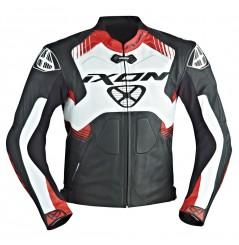 Blouson Cuir Moto Ixon VOLTAGE Noir - Blanc - Rouge