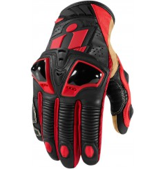 Gants Moto Racing ICON Hypersport Pro Court Rouge