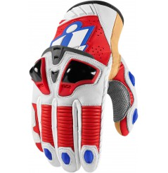Gants Moto Racing ICON Hypersport Pro Court Bleu Blanc Rouge