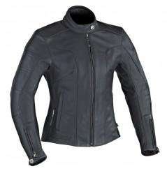 Blouson Cuir Moto Femme Ixon CRYSTAL SLICK Noir