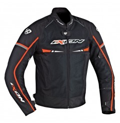 Blouson Moto Ixon PITRACE Noir - Blanc - Orange