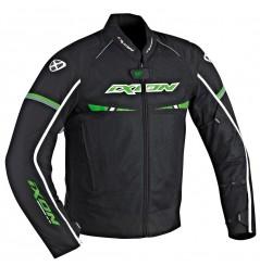 Blouson Moto Ixon PITRACE Noir - Blanc - Vert
