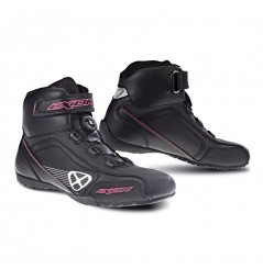Chaussure Racing Moto Ixon Assault Lady Noir - Blanc - Rose