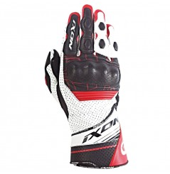 Gants Moto Racing Ixon Rs Rallye Hp Noir - Blanc - Rouge