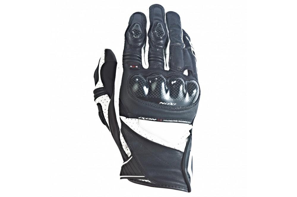 gants moto racing ixon rs pistol hp noir blanc street moto piece. Black Bedroom Furniture Sets. Home Design Ideas