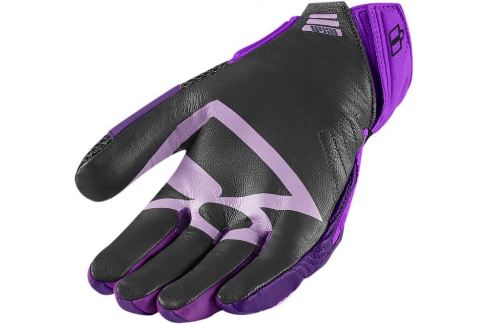 gants moto femme t icon overlord violet street moto piece. Black Bedroom Furniture Sets. Home Design Ideas