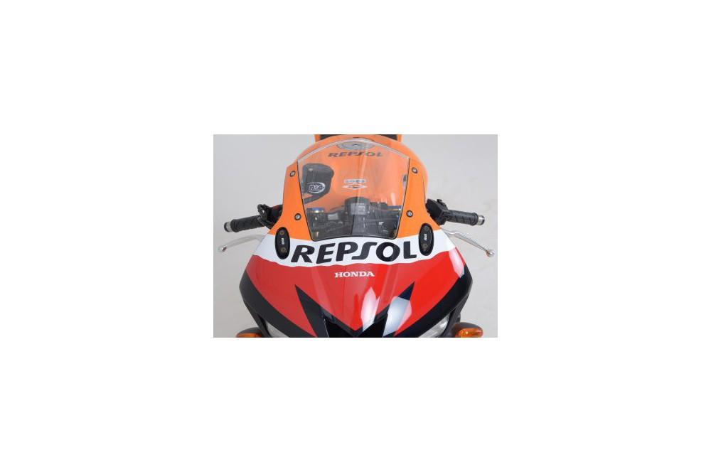 Cache Orifice Rétrovieur R&G CBR500R (13-15) CBR600RR (03-15) CBR650F (13-15) CBR1000RR (04-07)