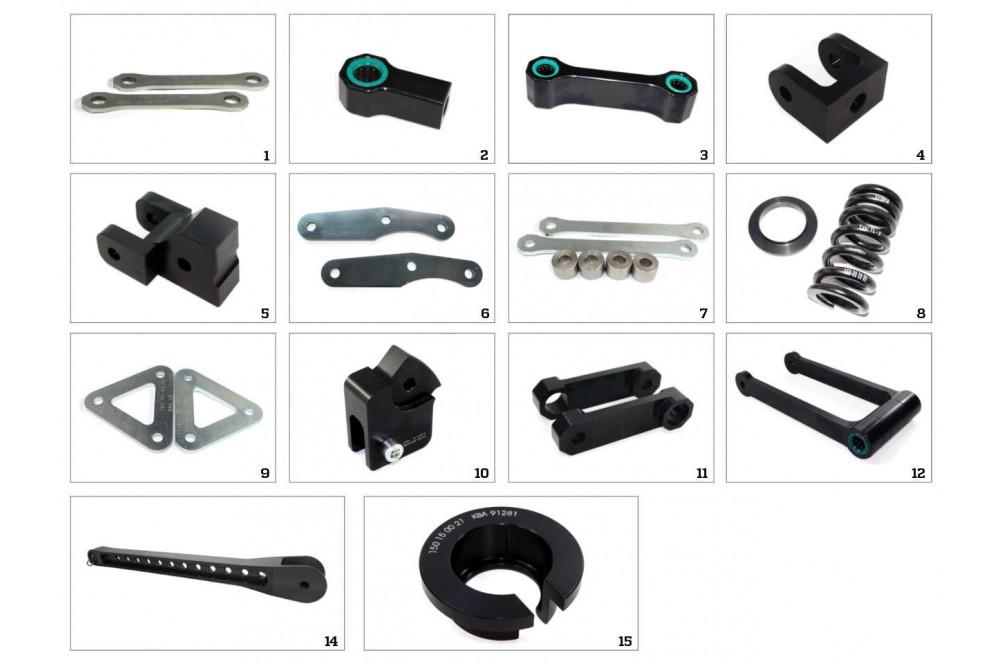 Kit Rabaissement -25mm pour Kawasaki ZX250R (