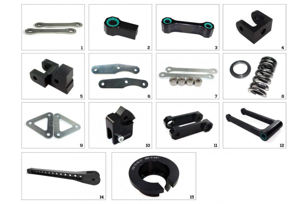 Kit Rabaissement -25mm pour Suzuki Gladius 650 SFV (09-15)