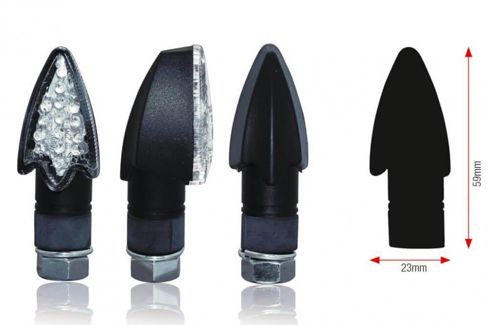 Clignotant LED Moto DARTS Noir