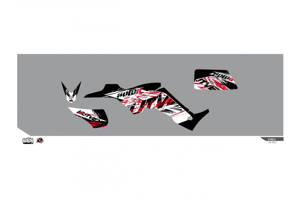 kit d co kutvek pour quad kymco kxr 250 street moto piece. Black Bedroom Furniture Sets. Home Design Ideas
