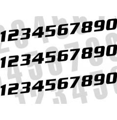 Kit Numéro De Course 200 x 250 mm Noir Moto / Quad