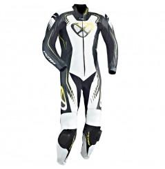 Combinaison Moto Racing IXON STARBUST Noir / Blanc / Jaune