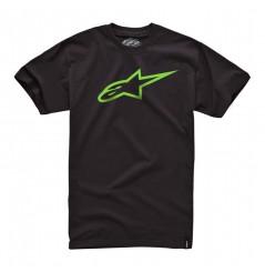 T-Shirt Alpinestars AGELESS Noir - Jaune
