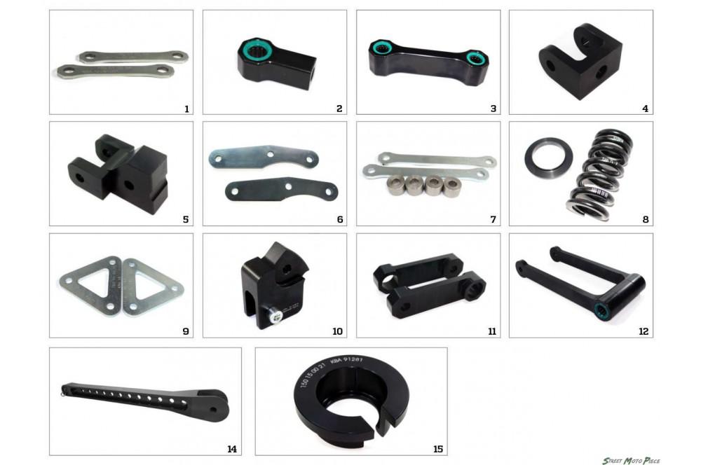 Kit Rabaissement -35mm pour Aprilia SL 750 Shiver (07-16)