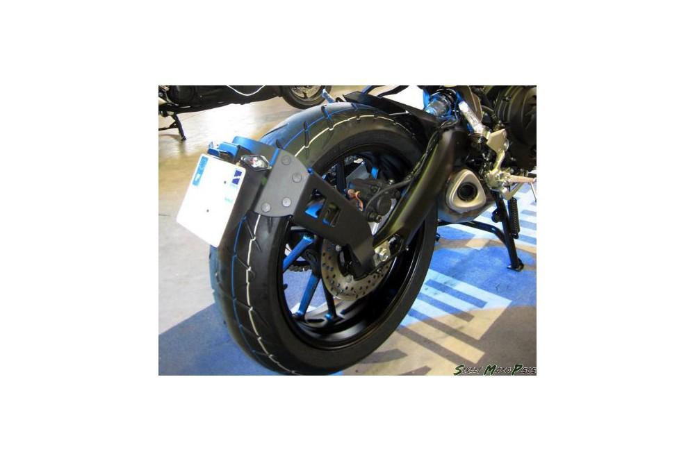 support de plaque moto d port access design pour yamaha mt 09 tracer 15 16 street moto piece. Black Bedroom Furniture Sets. Home Design Ideas