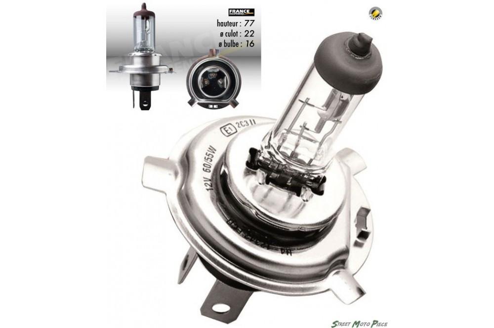Ampoule H4 12V-55/100W FLOSSER pour Moto-Quad-Scooter