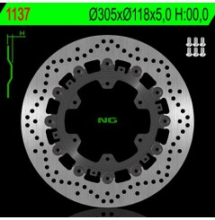 Disque de Frein Moto NG Brake Avant pour BMW R850R (94-01) R1100 R, ST, LT (91-01) K1100RS (93-96)