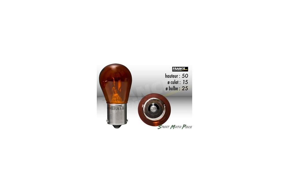 Ampoule Clignotant Orange 12V-21W RING pour Moto-Quad-Scooter