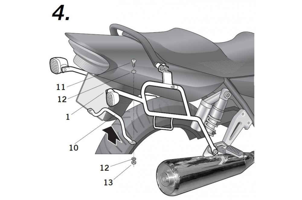 SUPPORT VALISE SHAD XJR 1300 04/06