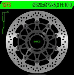 Disque de Frein Avant NG Brake pour 796 Monster (10-15) 821 Monster, hyper. (13-16) 939 Hyper (16-17)