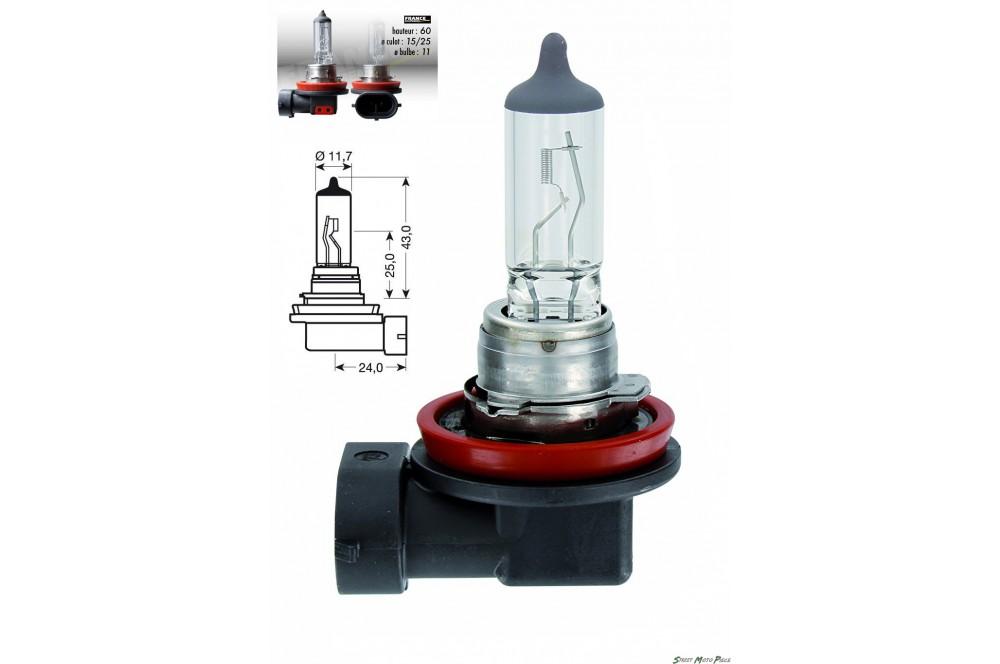 Ampoule H11 12V-55W RING pour Moto-Quad-Scooter