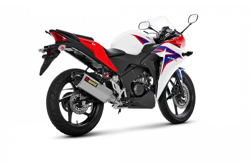 ligne akrapovic homologu pour cbr125r 11 16 street moto piece. Black Bedroom Furniture Sets. Home Design Ideas