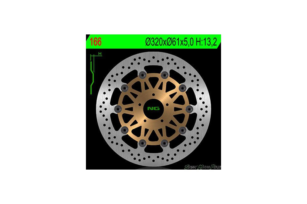 Disque de frein avant KAWASAKI ZX7R 96/03, ZX9R 94/97, ZX9R 02/03, ZZR 1100 93/01, ZX12R Ninja 00/03, ZZR 1200 02/05