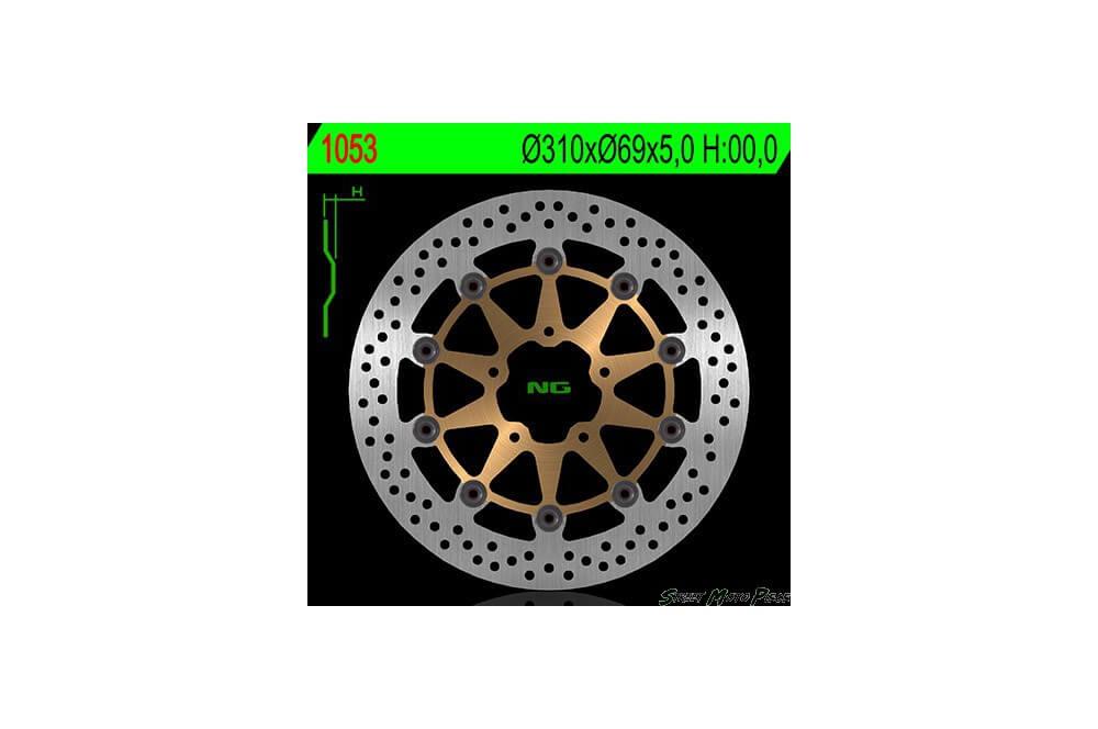 Disque de frein avant KAWASAKI KLV 1000 de 03 a 06