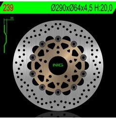 Disque de Frein Avant NG Brake pour 600 Bandit (95-04) GSXF600 (89-03) RF600R (89-03) SV650 (99-02) GSXF750 (98-03)