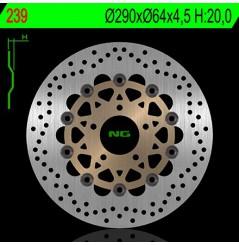 Disque de Frein Moto NG Brake Avant pour 600 S, N (95-04), GSX600F (89-03), RF600R (89-03), SV650 N, S (99-02), GSX750F (98-03)