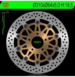 Disque de Frein Moto NG Brake Avant pour GS500 E (93-07) GS500 F (04-10) RF900R (94-00) 1200 Bandit (95-06) Inazuma 1200 (99-02)