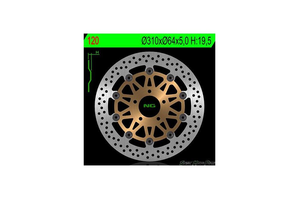 Disque de frein avant SUZUKI GS 500 E 93/07, GS 500 F 04/10, RF 900 R 94/00, 1200 Bandit 95/06, GSX 1200 99/02