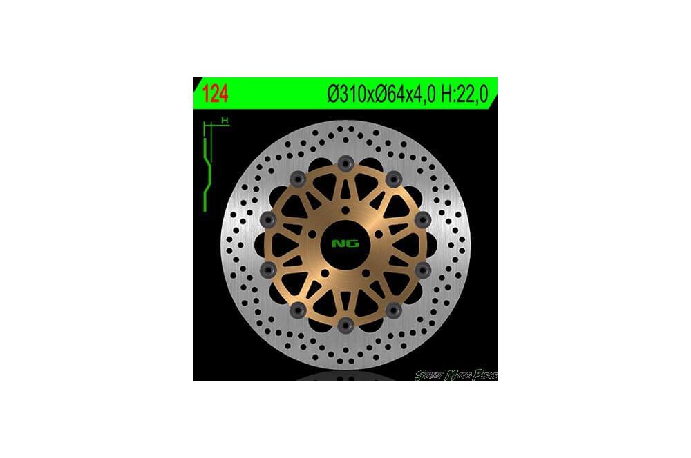 Disque de frein avant SUZUKI GSXR 750/1000 85/00