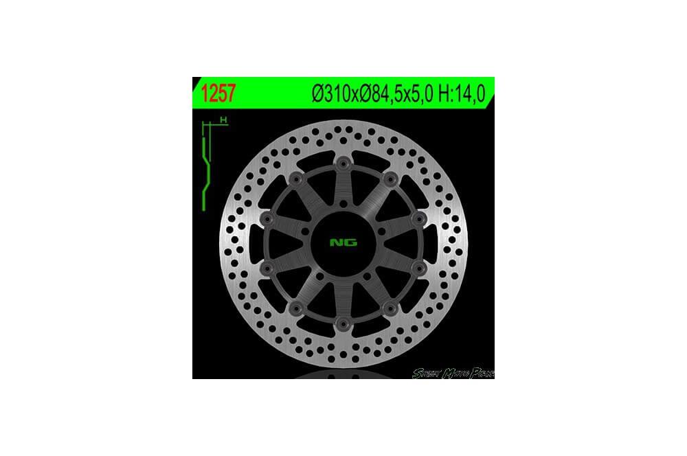 Disque de frein avant TRIUMPH 675 Daytona 06/12, Street Triple 675 07/12