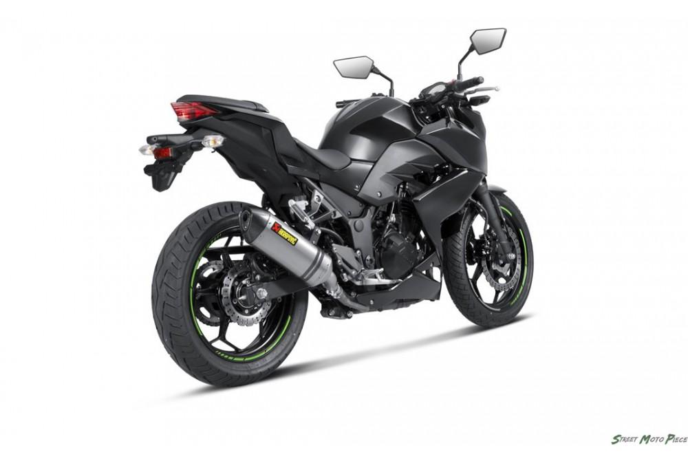silencieux hexagonal akrapovic ninja 300 13 16 z300 15 16 street moto piece. Black Bedroom Furniture Sets. Home Design Ideas