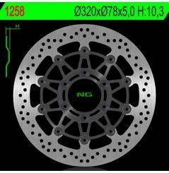 Disque de frein avant NG Brake pour Daytona 955 (97-01) 955 Sprint RS et ST (98-04) 955 Speed Triple (99-01)