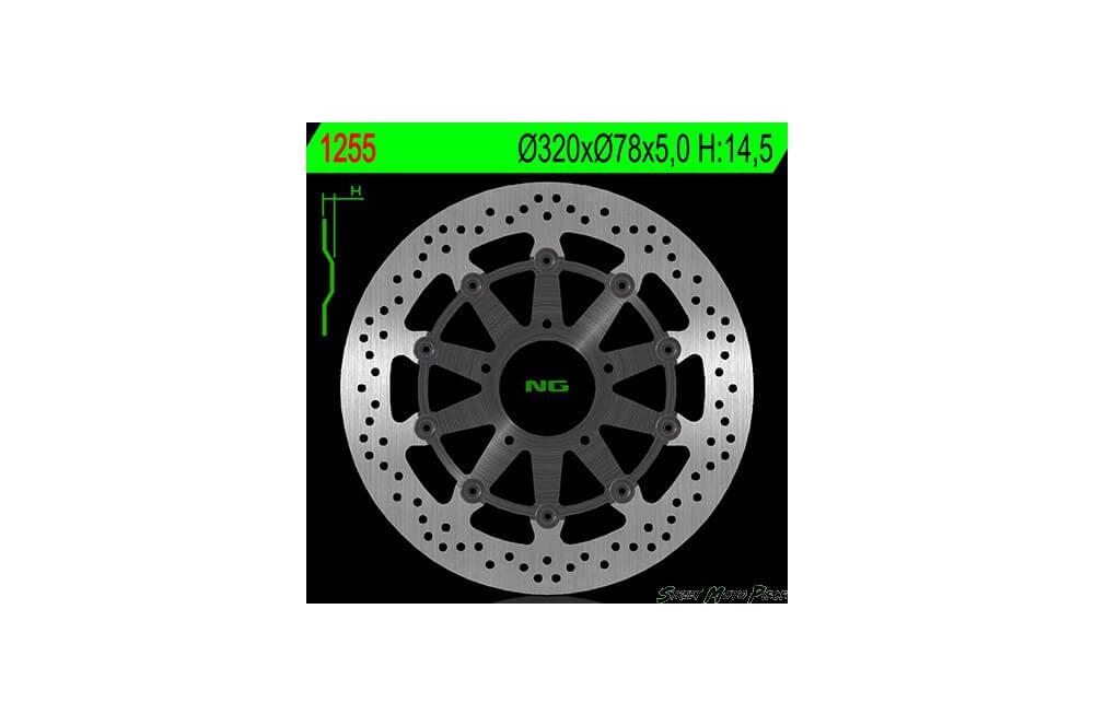 Disque de frein avant TRIUMPH T955 Daytona 955 02/06, 955 Speed Triple 02/04, 1050 Sprint ST 05/11