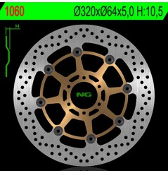 Disque de frein NG Brake avant pour Yamaha SZR600,660 (85-01) YZF750R (93-98)