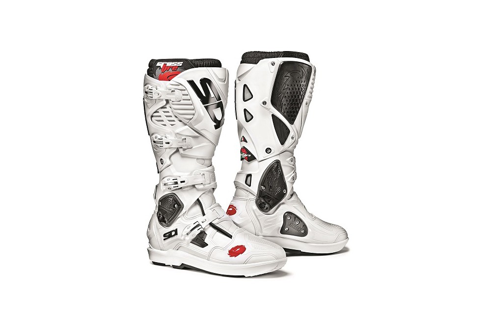 botte moto cross sidi crossfire 3 srs blanc street moto piece. Black Bedroom Furniture Sets. Home Design Ideas