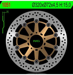 Disque de Frein Avant NG Brake pour Ducati 999 (02-07) 1100 Monster et S (09-10)