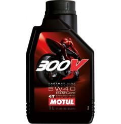 Huile moto Motul 300V 5w40 Factory Line Road Racing 1 Litre